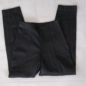 Firenze-Vintage Leather Pants- High Wasted- Size 8